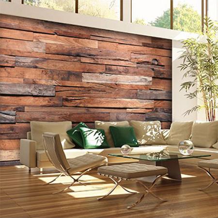 Fotobehang Wooden Wall