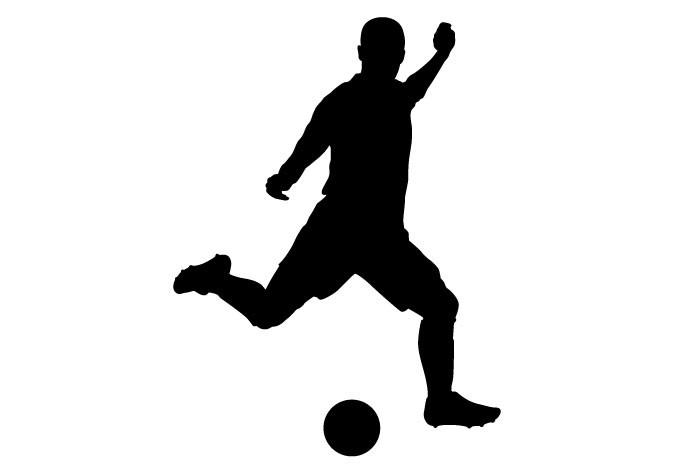 Sportsticker Voetballer : Muurmode.nl