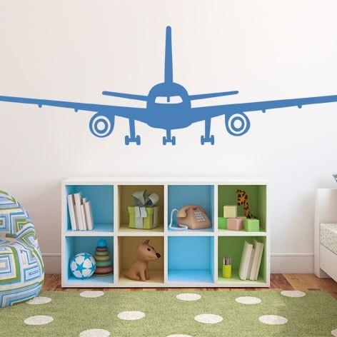 Interieursticker vliegtuig - Jongens kamer model ...