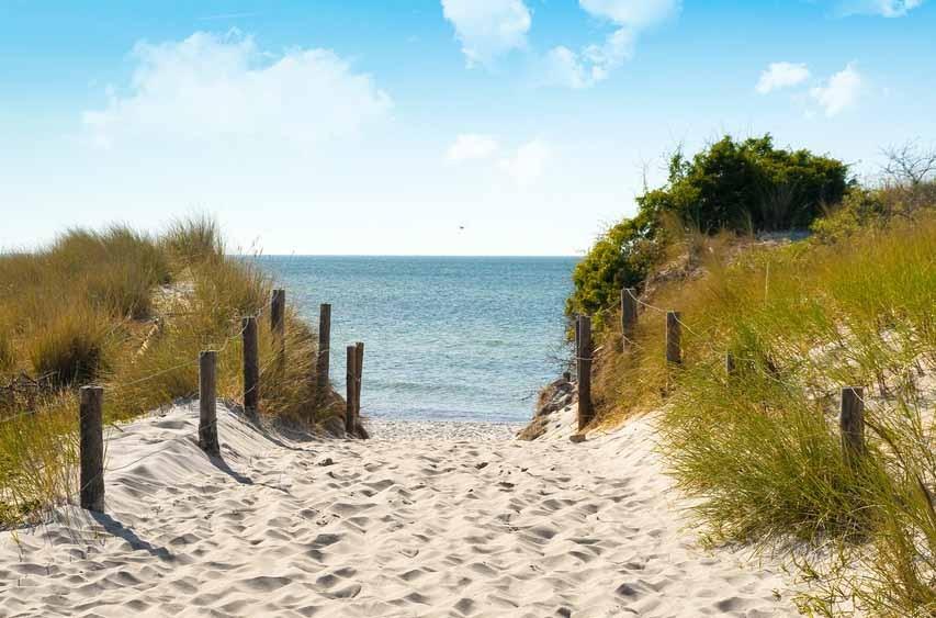Behang Kinderkamer Strand : Vlies fotobehang Duinen Oostzee Muurmode ...