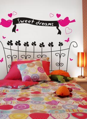 Behangrol voor exclusief behang en wanddecoratie muurstickers - Behang hoofdeinde ...