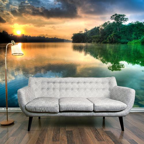 Behangrol voor exclusief behang en wanddecoratie fotobehang - Water kamer model ...