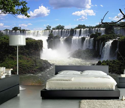 Vlies fotobehang Iguazu watervallen