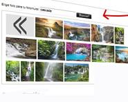 Selecteer een foto uit  de foto bank