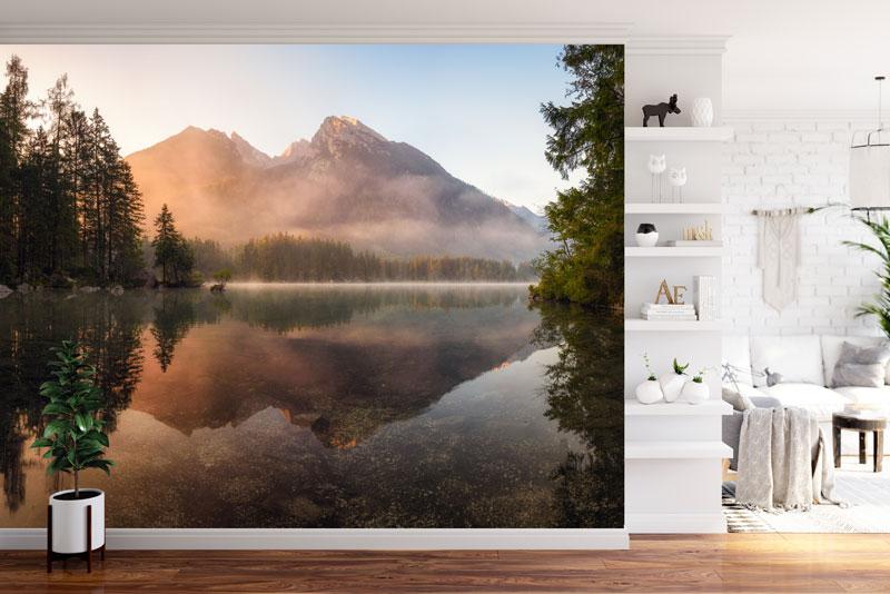 Vlies fotobehang Mist in de bergen