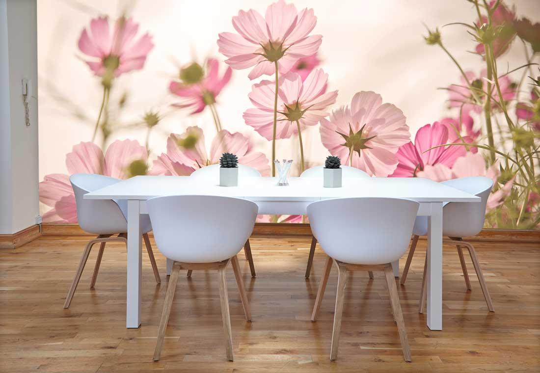 Vlies fotobehang Kleurrijke bloemen