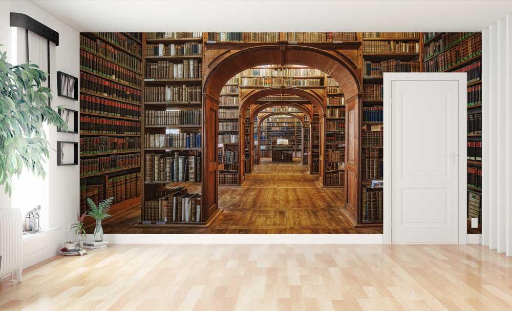 Vlies fotobehang Bibliotheek