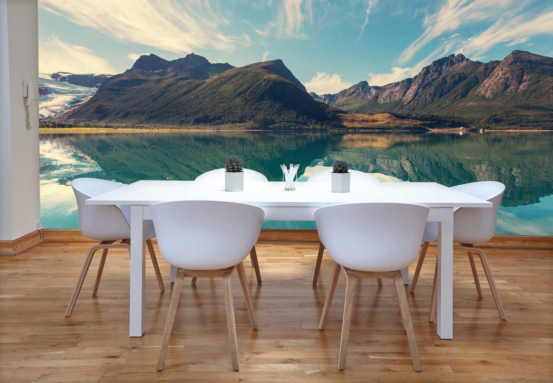 Vlies fotobehang Noors landschap