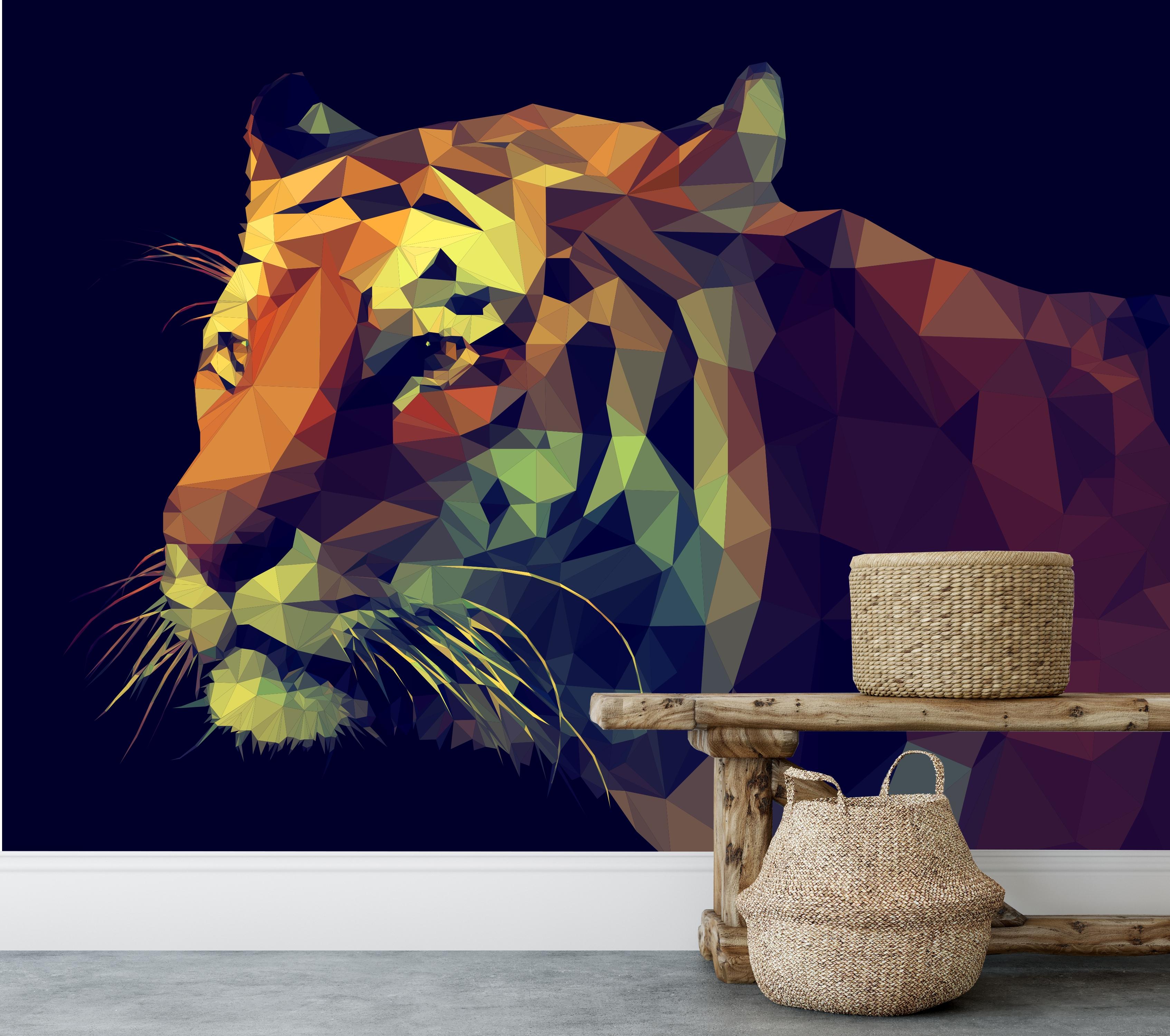 Vlies fotobehang tijger