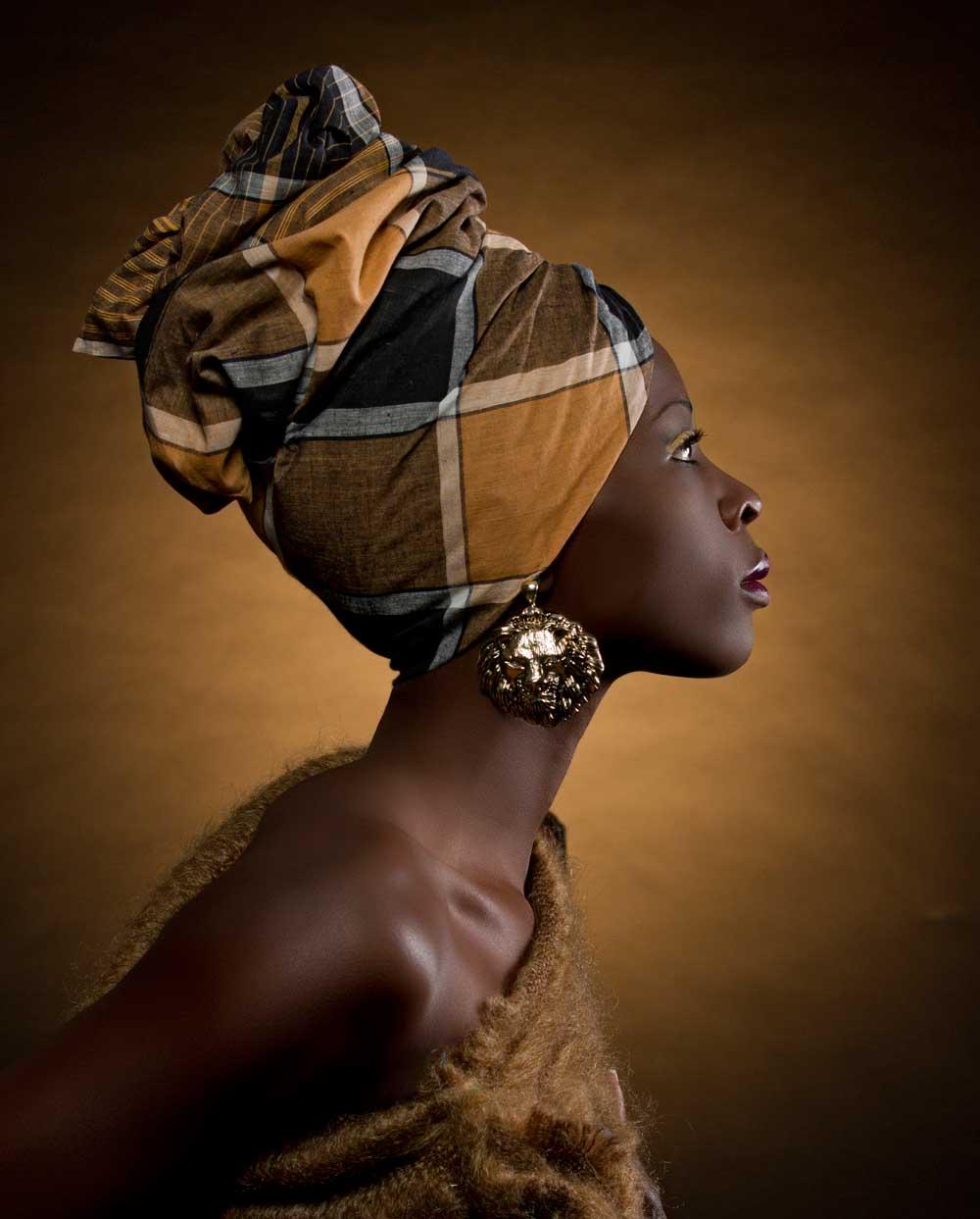 Vlies fotobehang African woman