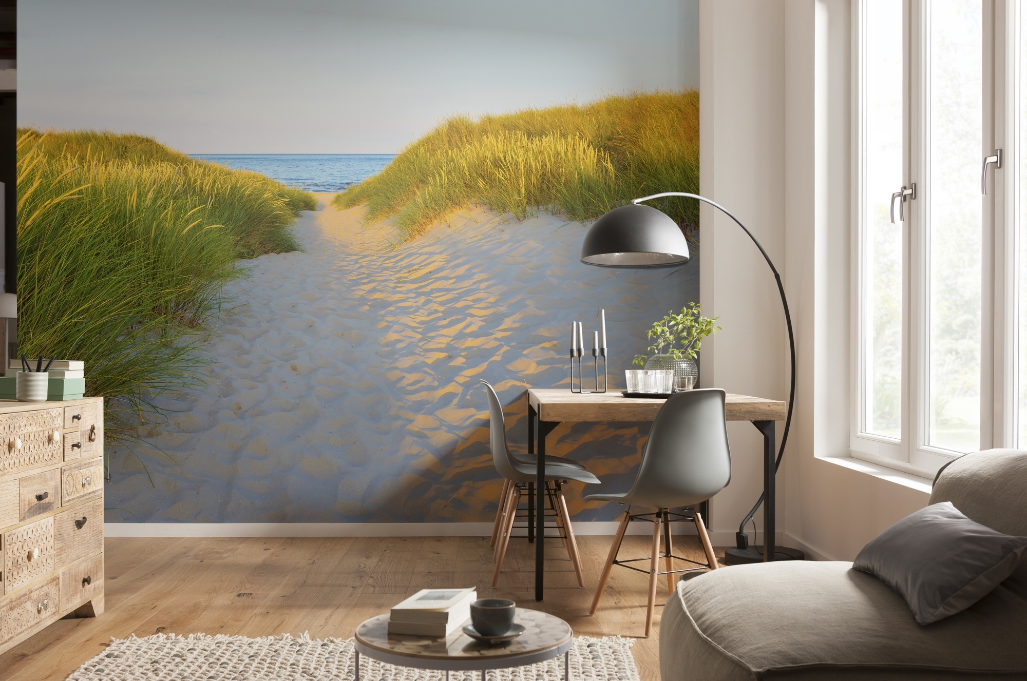 Fotobehang Sandy path