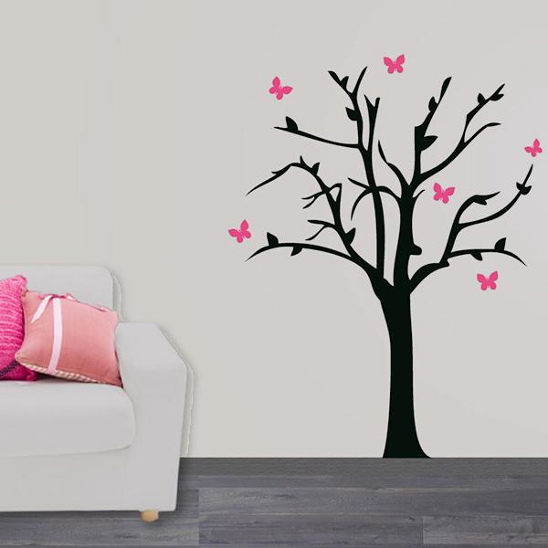 Interieursticker Boom met vlinders