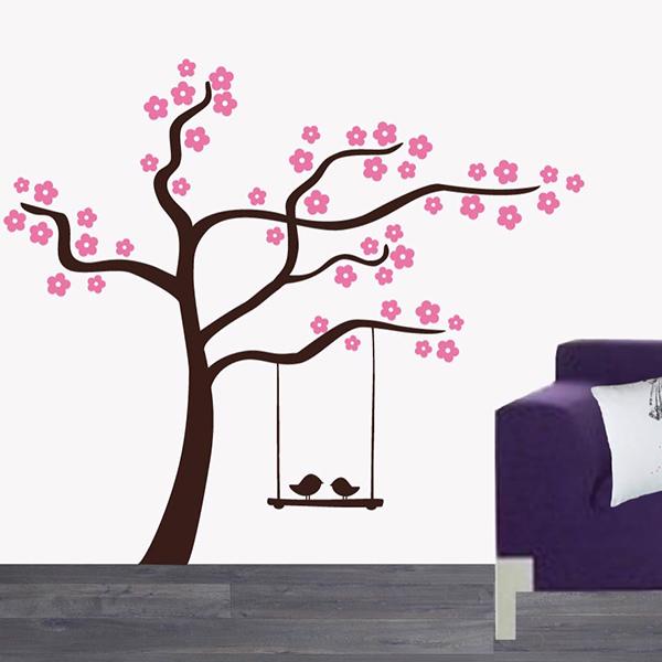 Muursticker Droomboom (2 kleurig)