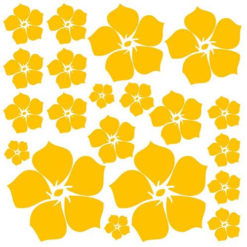Interieursticker Losse bloemen