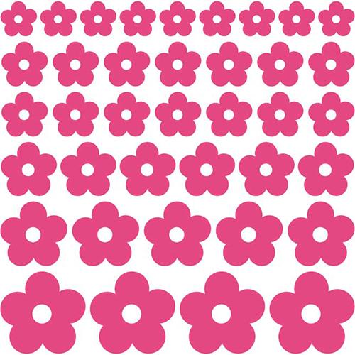 Muursticker Losse bloemen 2
