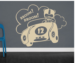 Babykamer sticker broom broom