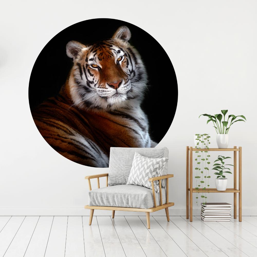 Behangcirkel Bengaalse tijger