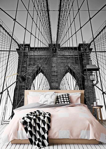 Vlies fotobehang Close-up Brooklyn Bridge