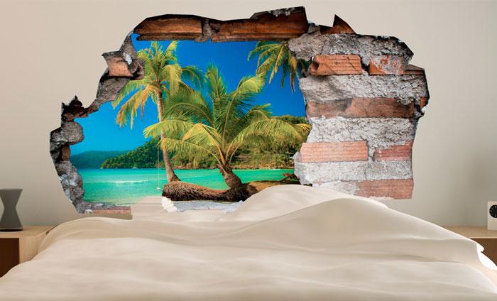 3D Muursticker Paradijs