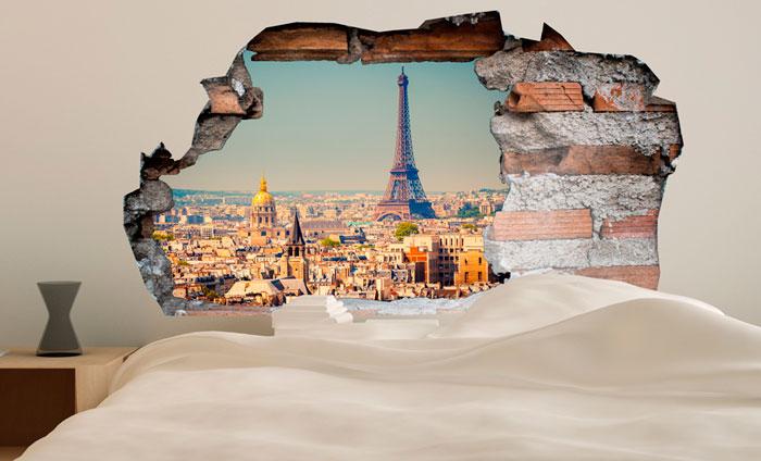 3D Muursticker Parijs