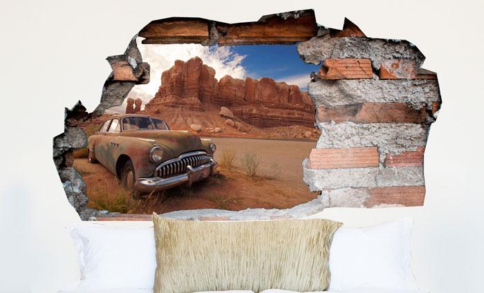 3D Muursticker Woestijn