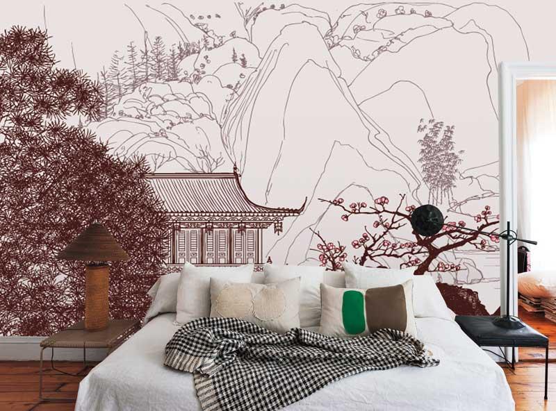 Vlies fotobehang Chinees landschap