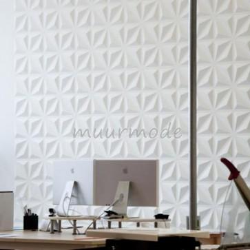 3D bamboe wandpanelen - model Diamond