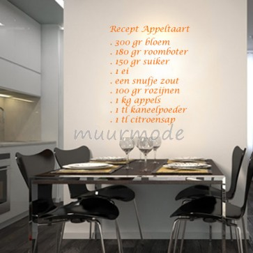 Tekststicker Appeltaart-recept