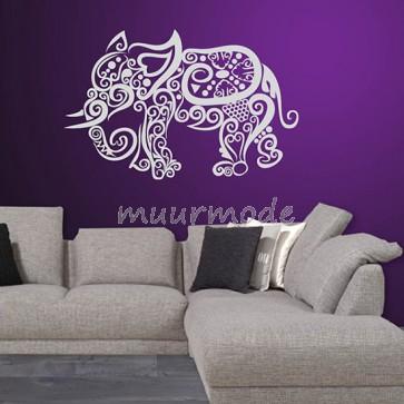 Muursticker grafische olifant