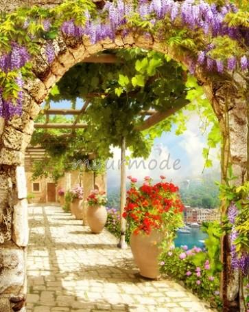 Tuinposter Bloementuin