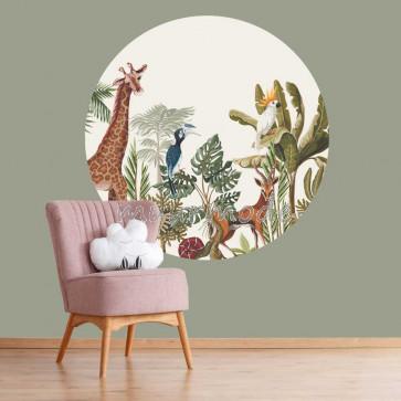 Behangcirkel Jungle