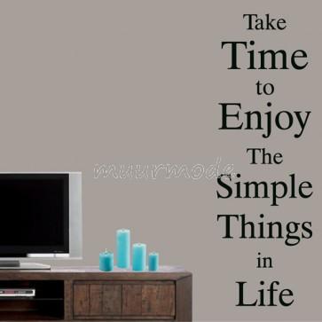 Tekststicker Enjoy the simple things