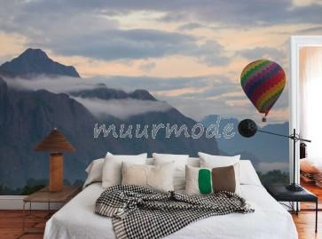 Vlies fotobehang Landschap met berg en meer