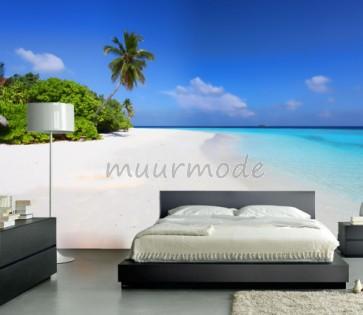 Vlies fotobehang Strand Malediven