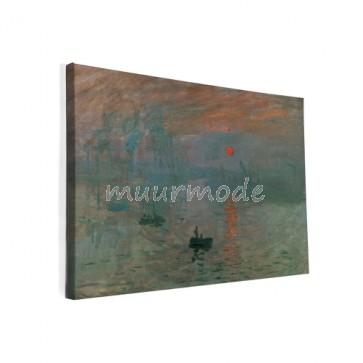 Canvas schilderij soleil levant Monet