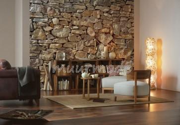 Mooie stenenwand voor in huis