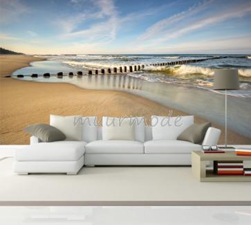 Fotobehang verlaten strand _380x254