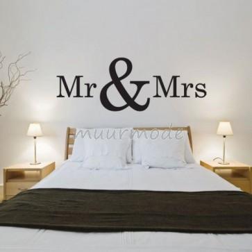 Tekststicker Mr & Mrs