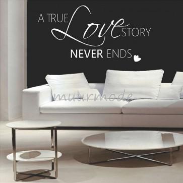 Tekststicker A true love story