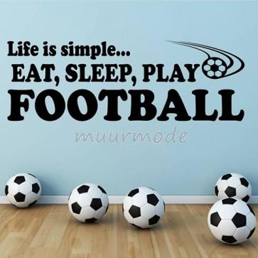 Tekststicker Football