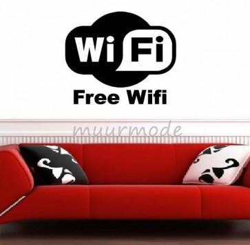 Tekststicker Free Wifi