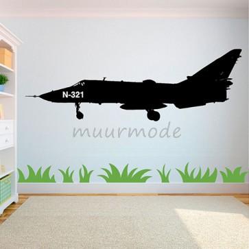 Kinderkamer muursticker Straaljager