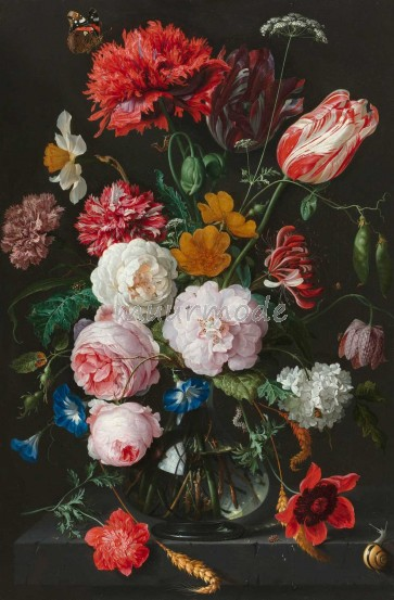 Canvasdoek Still life with flowers_60x90