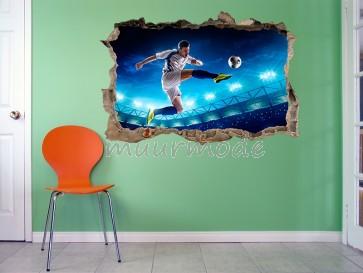 3D Muursticker voetballe