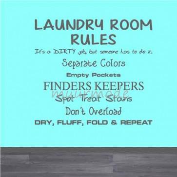 Tekststicker Wasgoed regels