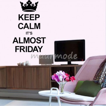Tekststicker keep calm it´s almost friday
