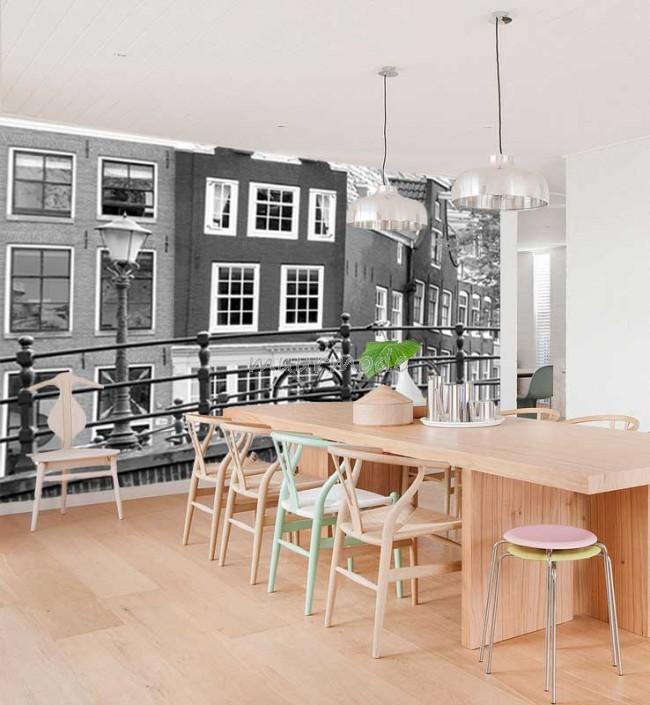 Fotobehang Meerdere Fotos.Vlies Fotobehang Amsterdam Zwart Wit Muurmode Nl