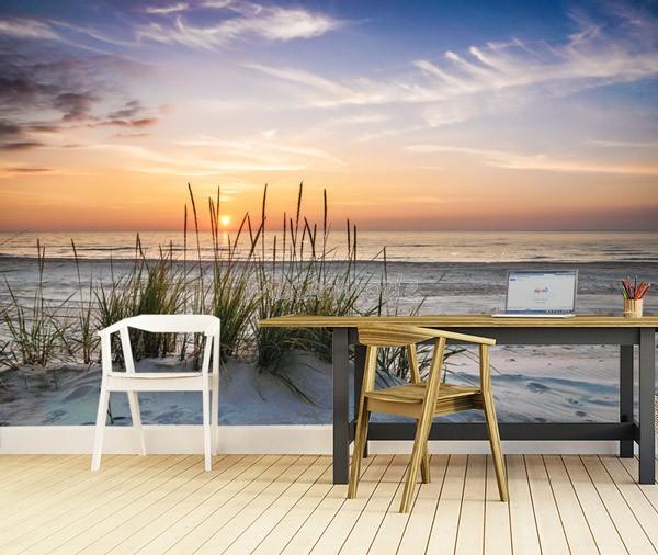 Fotobehang Strand Zee.Vlies Fotobehang Avond Zee Muurmode Nl