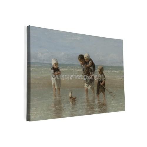 Nieuw Canvas schilderij Kinderen der zee | Muurmode.nl CI-74