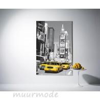 Muurposter Times Square (zwart-wit)